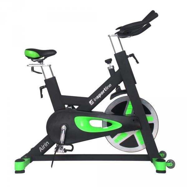 Bicicleta indoor cycling inSPORTline Airin/negu-verde : Review si Recomandari